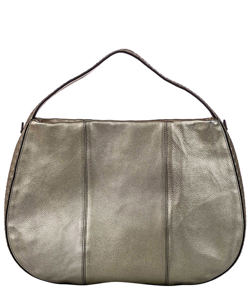 Women's leather shoulder bag city veneta large secondary image