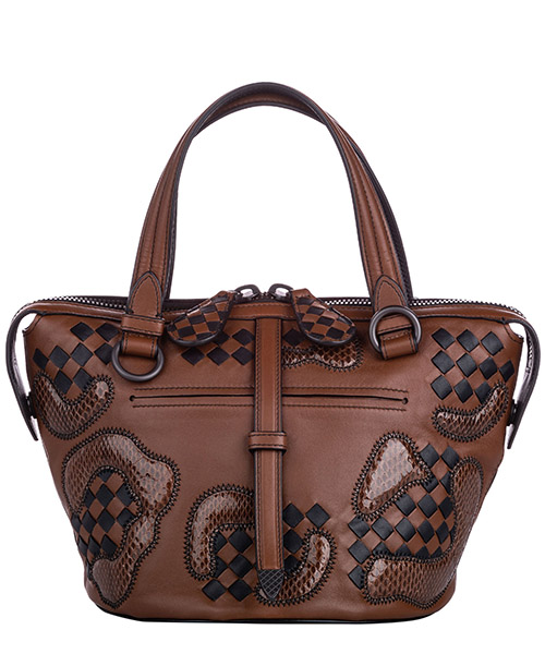 Handbags Bottega Veneta Pre-Owned FF0BOST007 marrone
