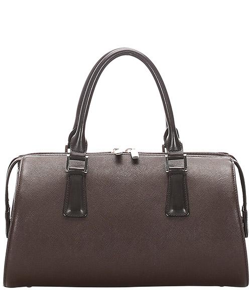 Women's leather handbag barrel bag purse secondary image