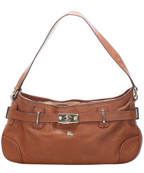 Shoulder bag Burberry Pre-Owned GLJ0GBUSH004 marrone