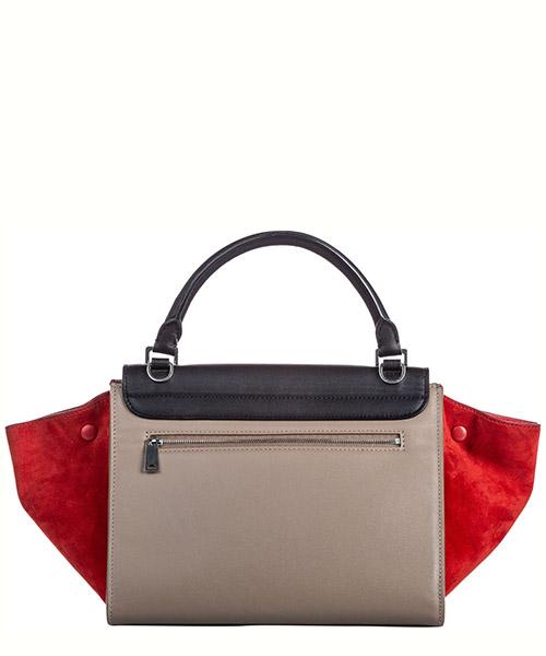 Women's leather handbag shopping bag purse trapeze small secondary image
