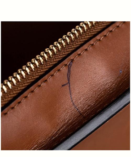 Women's leather handbag shopping bag purse trapeze medium secondary image