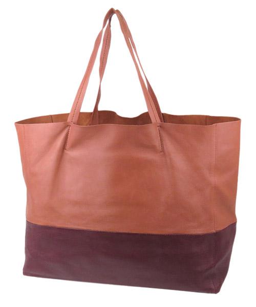 Women's leather handbag shopping bag purse horizontal cabas secondary image
