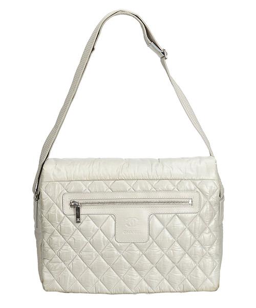 Bolsa de asa larga Chanel Pre-Owned 8LCHCX001 grigio