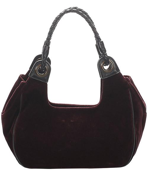 Women's suede shoulder bag secondary image