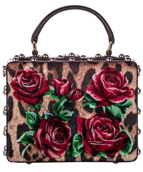 Women's handbag shopping bag purse  rose box velvet secondary image