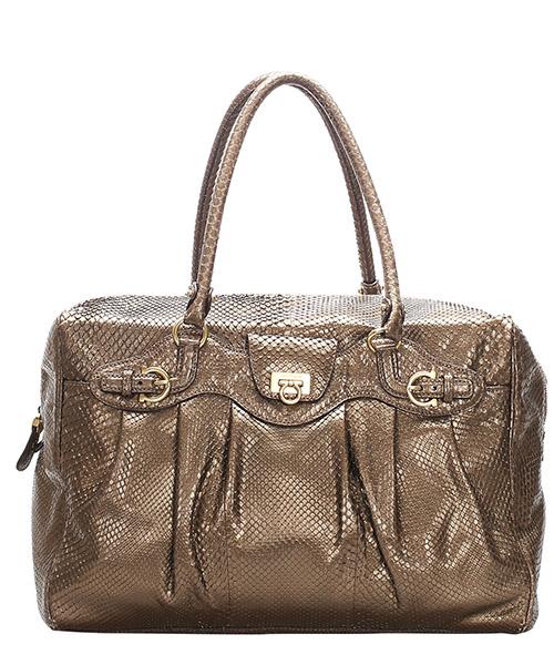 Handbags Ferragamo Pre-Owned GLJ0FFRTO001 marrone