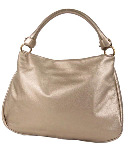 Women's leather handbag shopping bag purse vara metallic secondary image