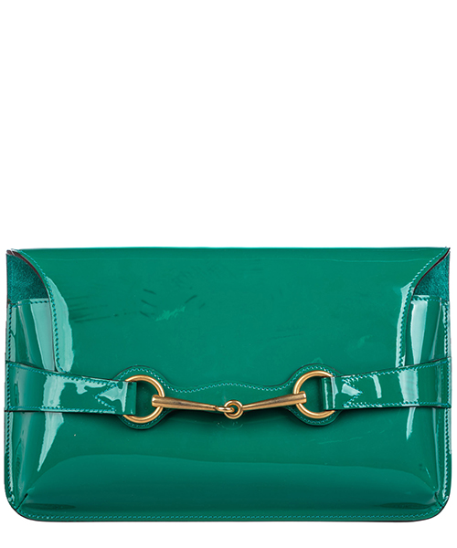 Clutch Gucci Pre-Owned 0BGUCL001 verde