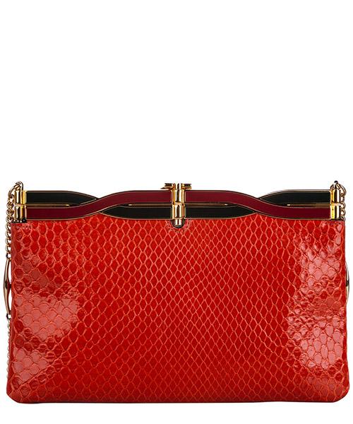Pochette handtasche damen tasche leder clutch bag mit schulterriemen  broadway secondary image