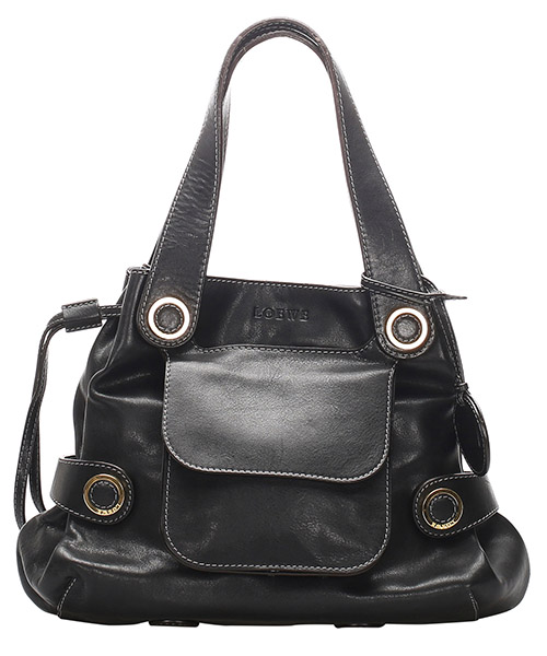 Bolsa de asa larga Loewe Pre-Owned GLJ0GLOSH003 nero