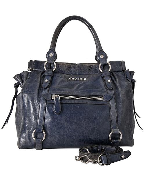 Handbags miu pre-owned 9JMMST004 blu