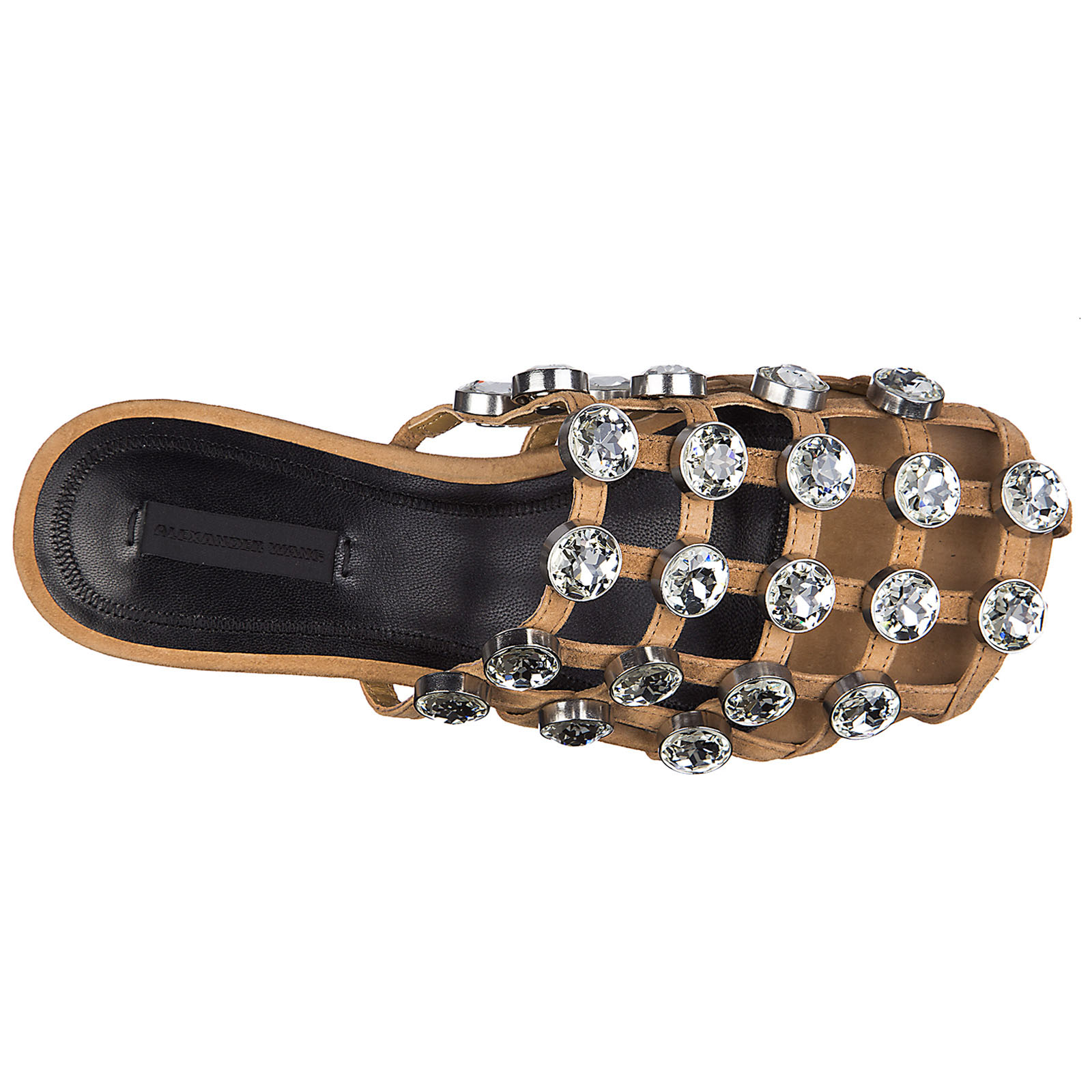 Ciabatte donna in pelle jeweled amelia