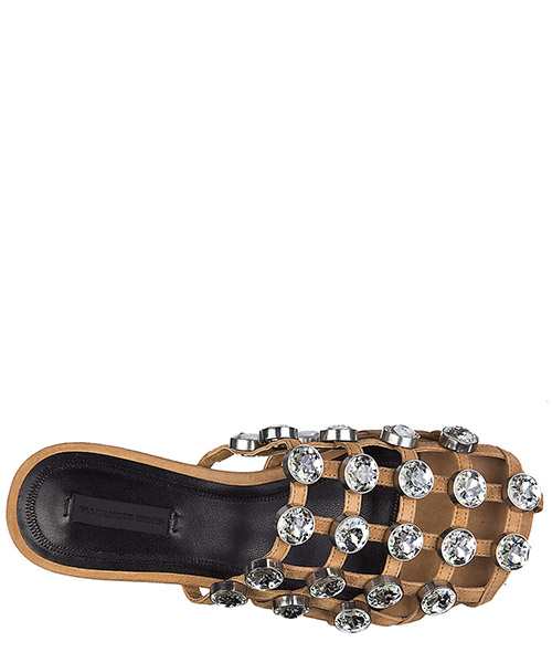 Women's genuine leather slippers sandals jeweled amelia secondary image
