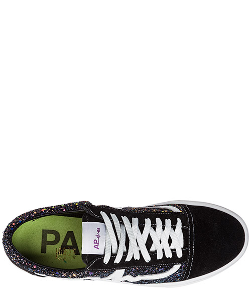 Women's shoes suede trainers sneakers galaxi secondary image