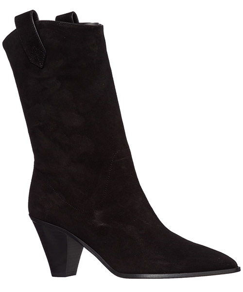 Women's suede heel ankle boots booties boogie cowboy secondary image