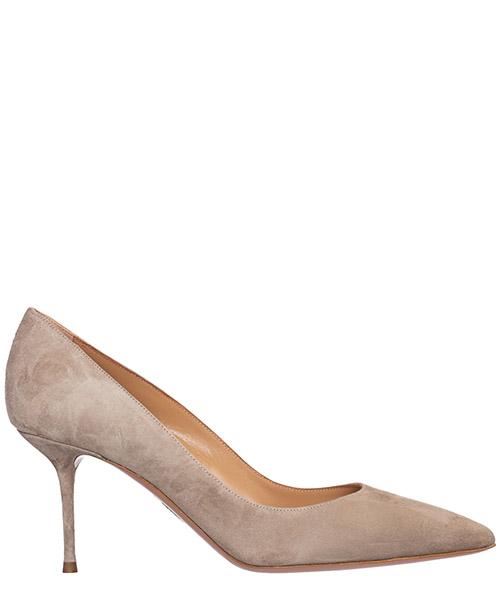 Zapatos de salón Aquazzura purist purmidp0-sue-alg alpaca grey