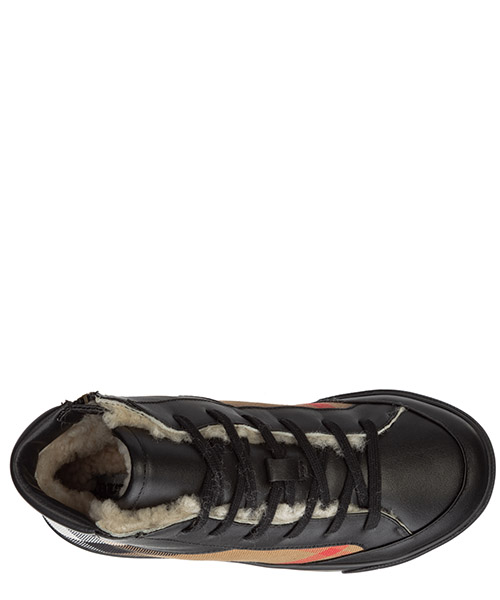 Boys shoes child sneakers high top leather secondary image