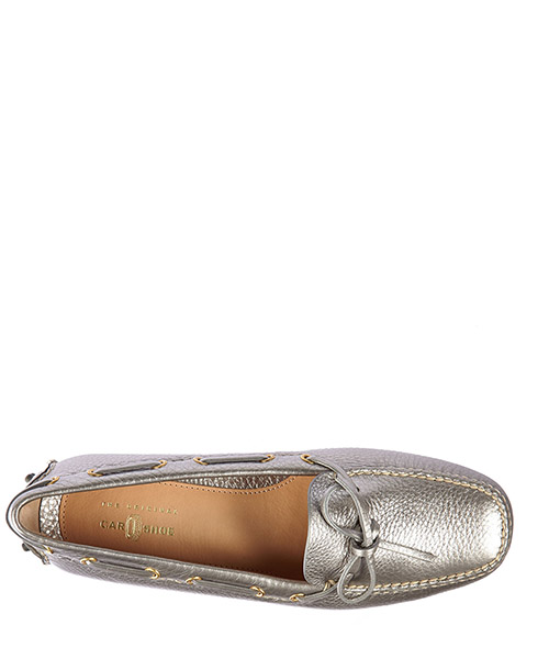 Women's leather loafers moccasins  drive secondary image