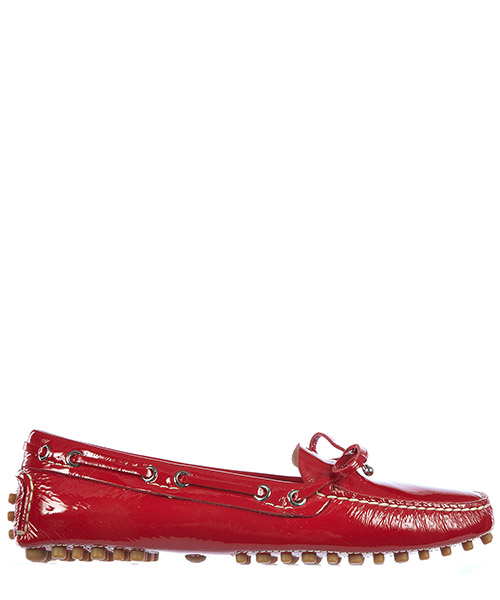 Women's leather loafers moccasins  naplak