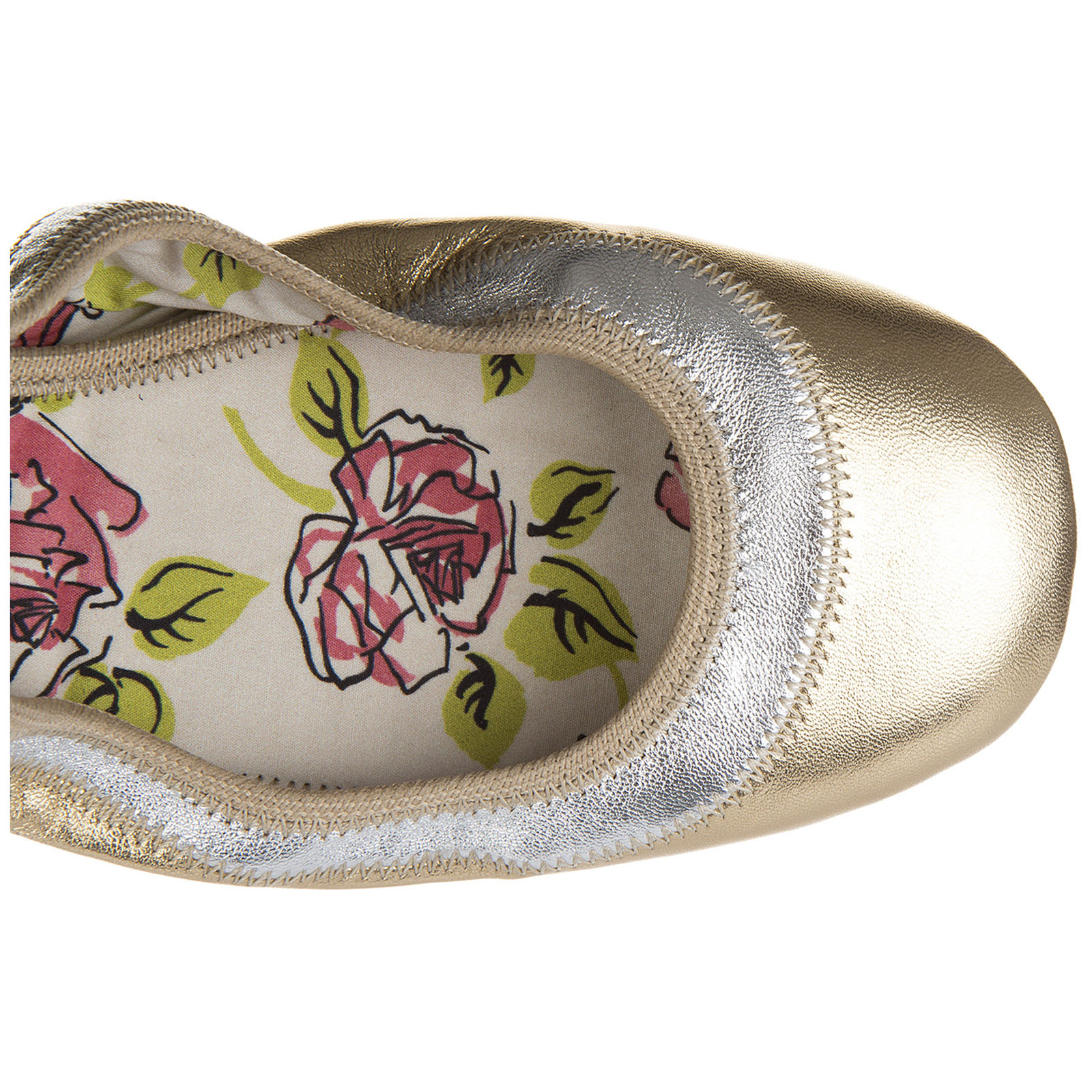 Women's leather ballet flats ballerinas  silk