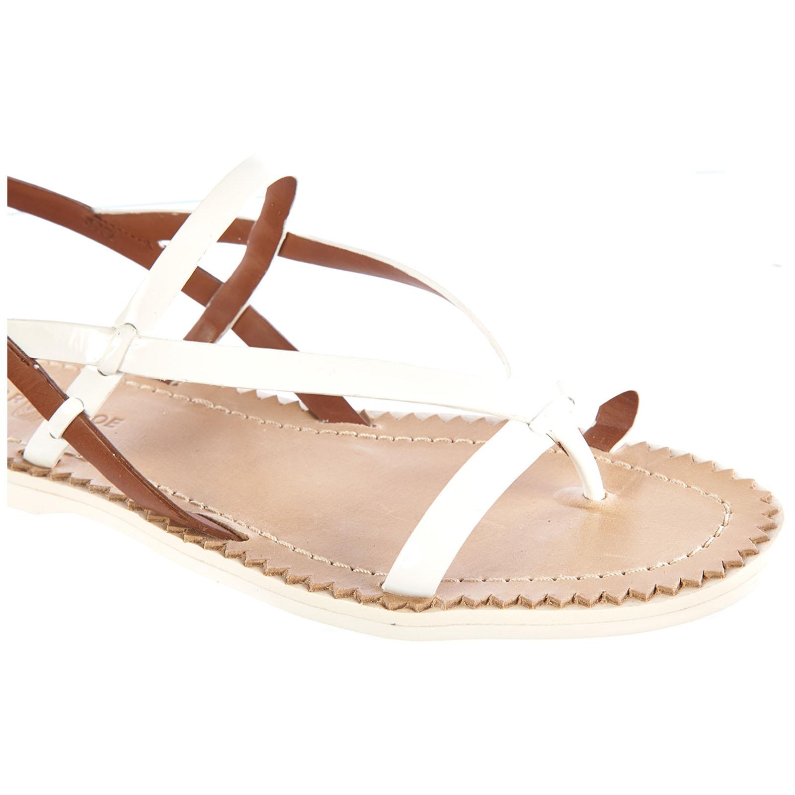 Sandalias mujer en piel  vernice