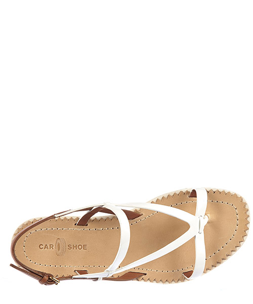 Women's leather sandals  vernice secondary image