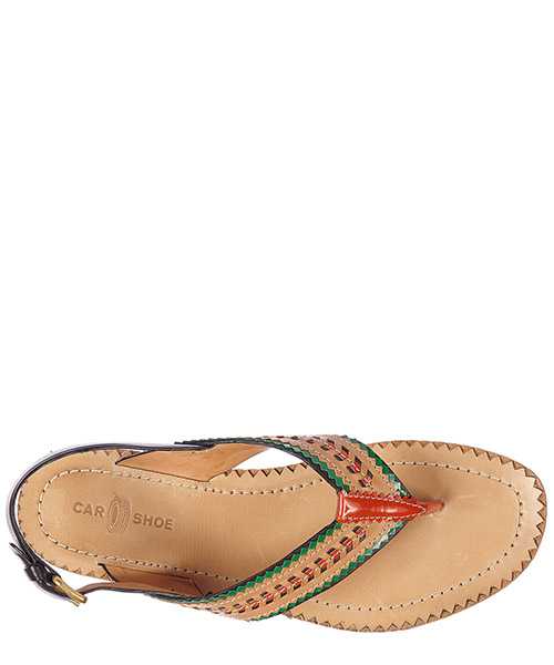 Women's leather flip flops sandals nature secondary image