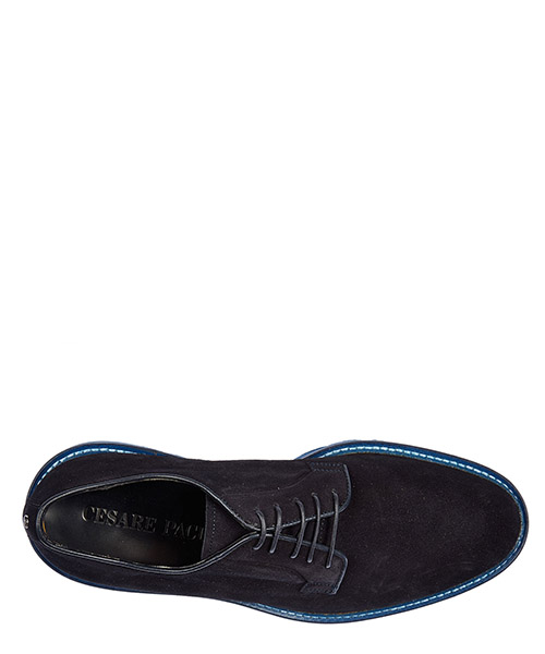 Men's classic suede lace up laced formal shoes derby vitello secondary image