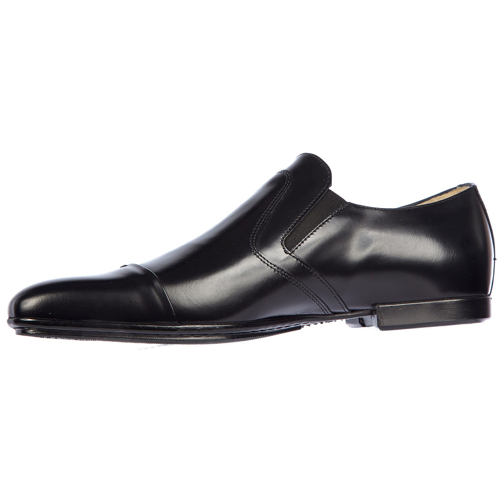 Men's classic leather formal shoes slip on monkstrap baio
