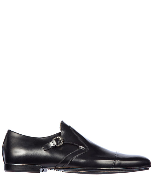Herren leder formal business slipper schuhe monkstrap baio
