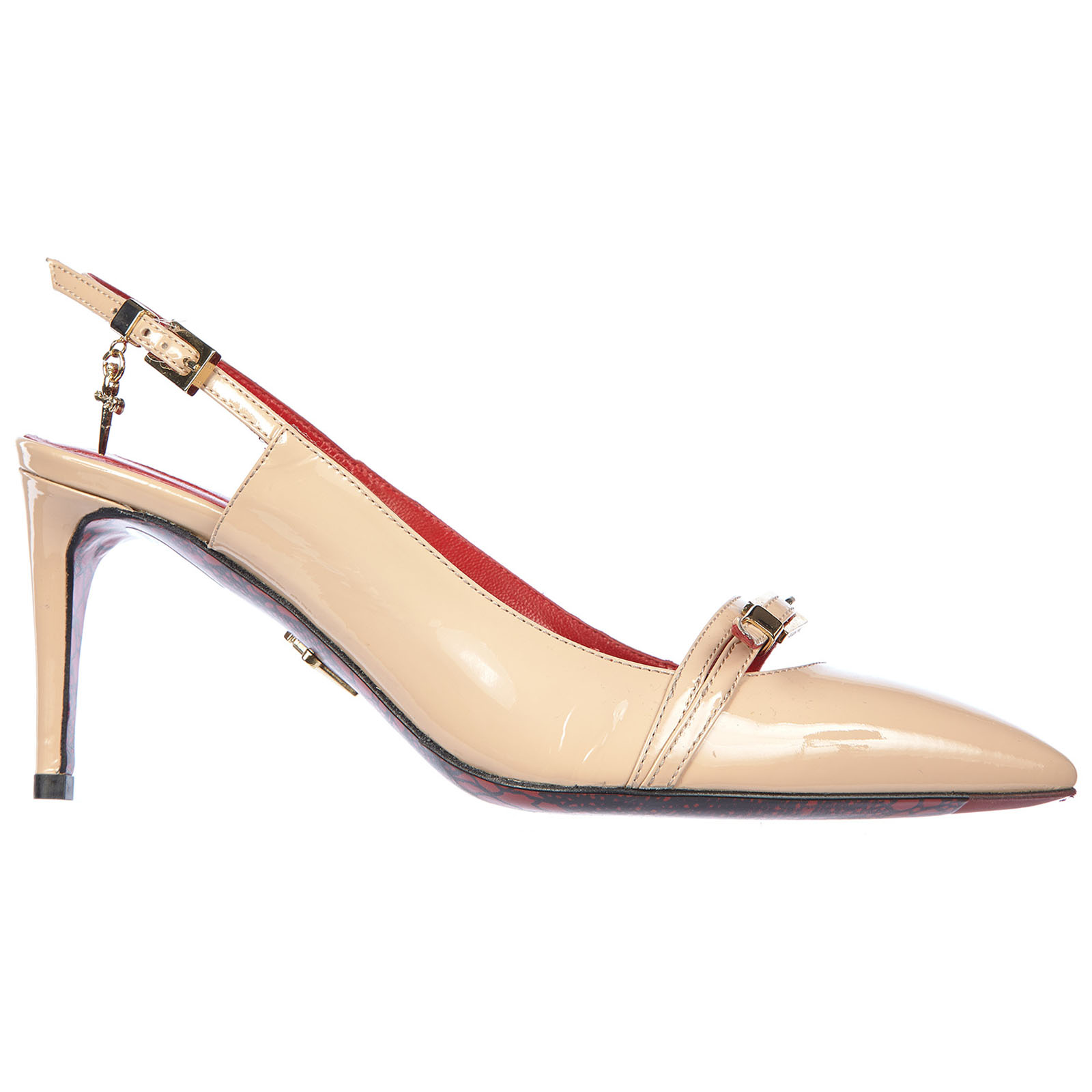 Women's leather pumps court shoes high heel vernice luce
