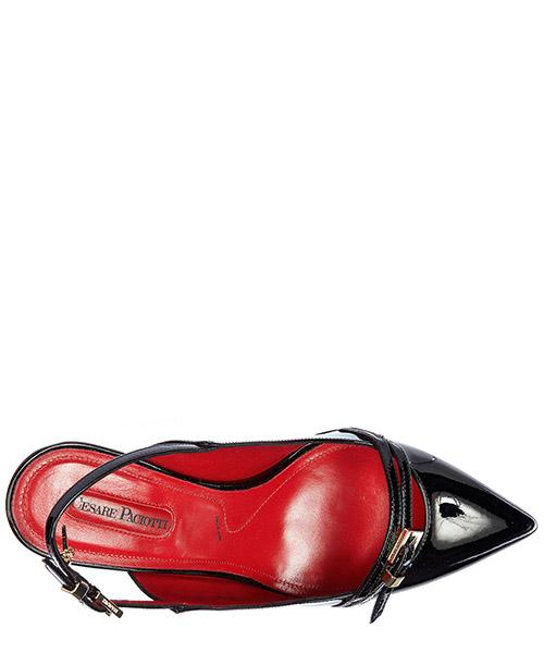 Escarpins chaussures femme à talon en cuir vernice luce secondary image