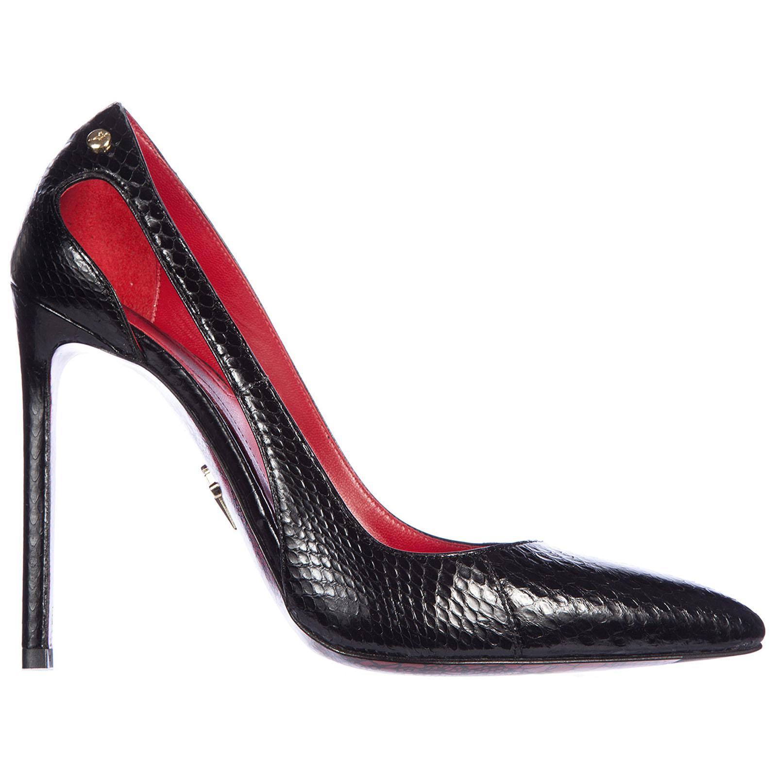 Decolletes decoltè scarpe donna con tacco pelle ayer