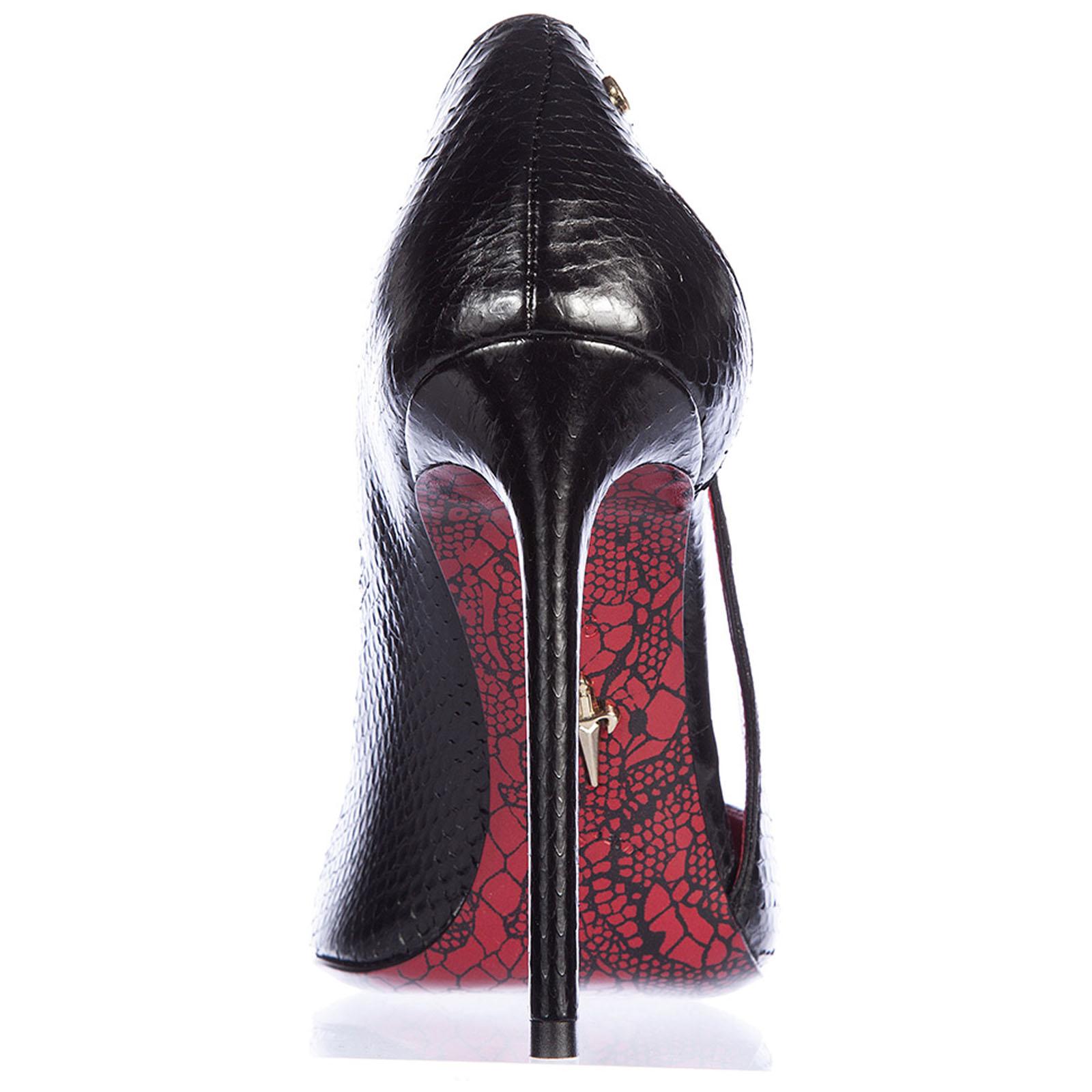 Zapatos de salón escotes mujer en piel ayer