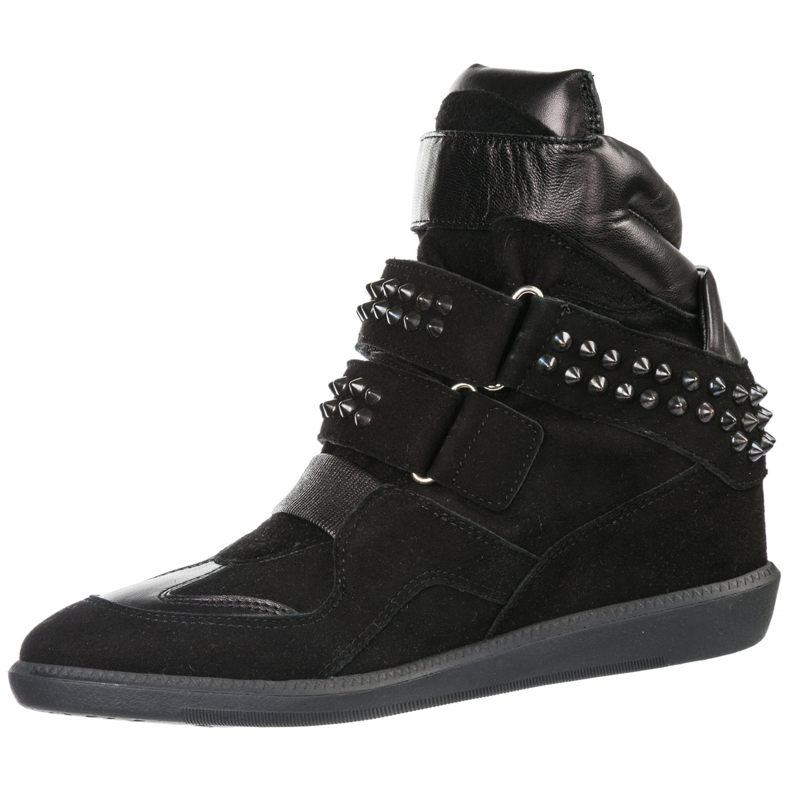 Women's shoes high top suede trainers sneakers