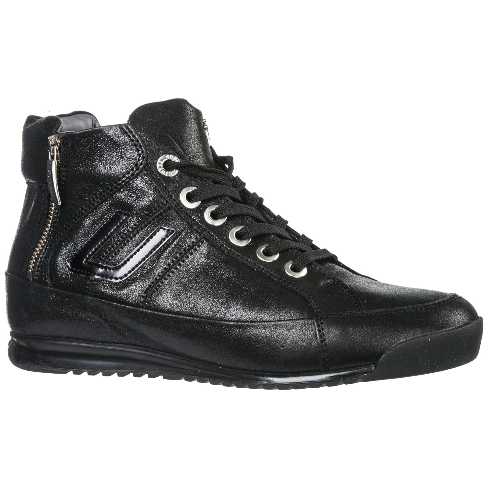 163186e751 Scarpe sneakers alte donna in pelle