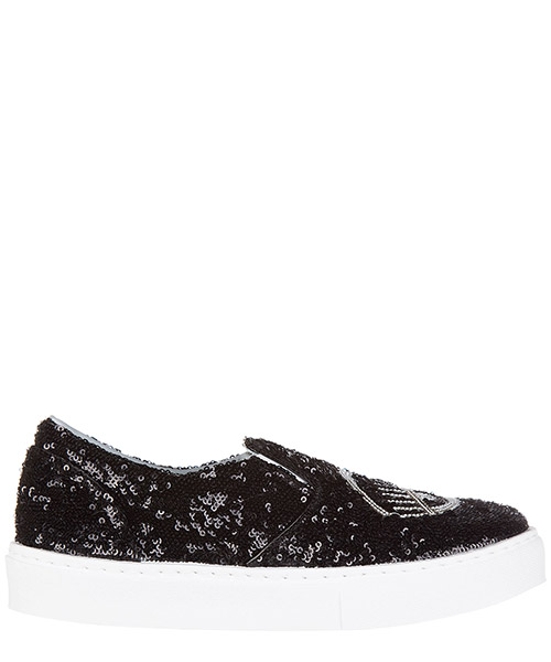 Slip-on shoes Chiara Ferragni flirting cf1291 nero - siilver