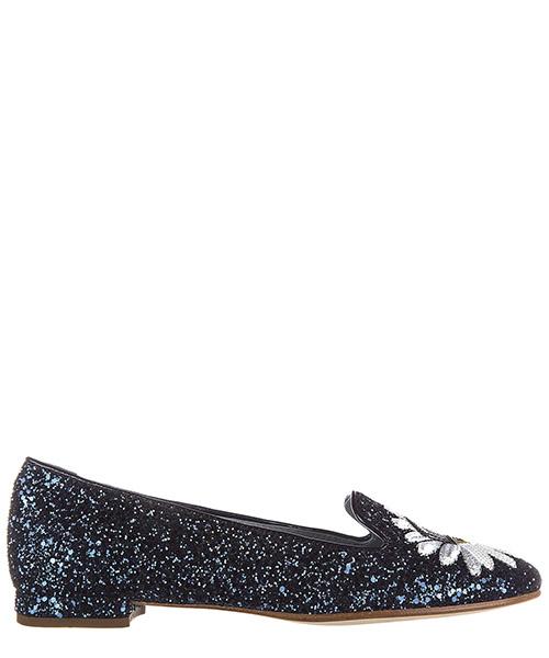 Ballet flats Chiara Ferragni Flirting CF1406 glitter blu