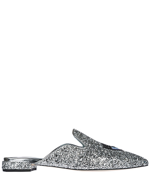 Mules Chiara Ferragni Logomania CF1840 argento