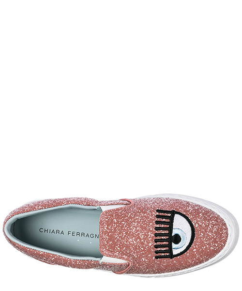 Damen mokassins slip on sneakers logomania secondary image