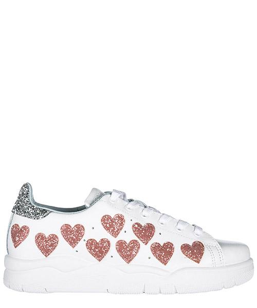 Chaussures baskets sneakers femme en cuir roger