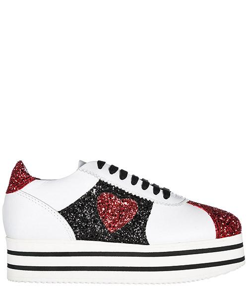 Sneakers con zeppa Chiara Ferragni CF1932 bianco