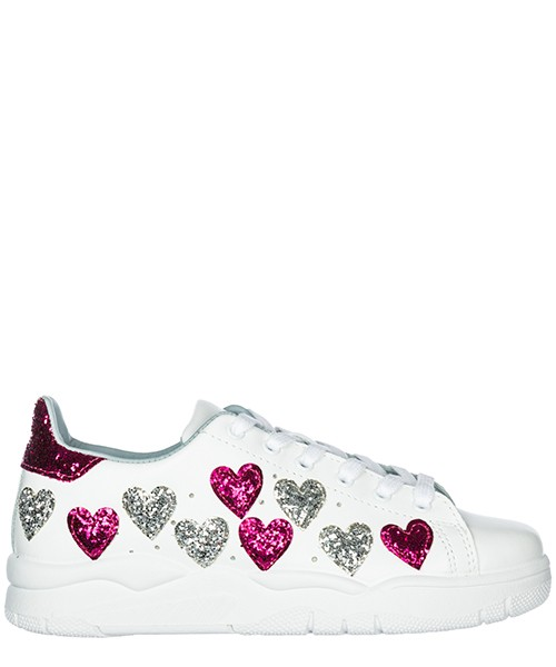 Women's shoes leather trainers sneakers heart