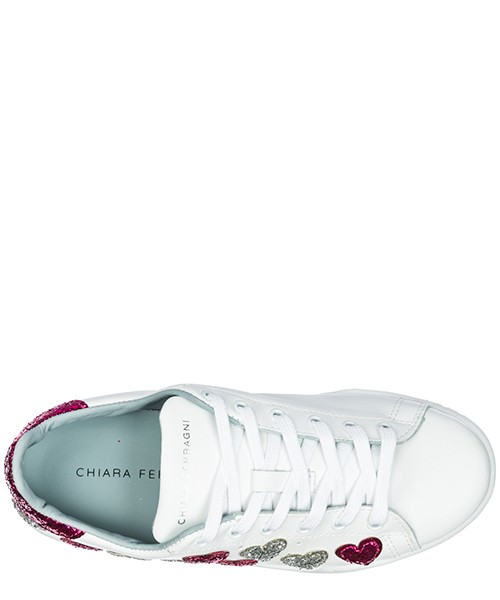 Scarpe sneakers donna in pelle heart secondary image