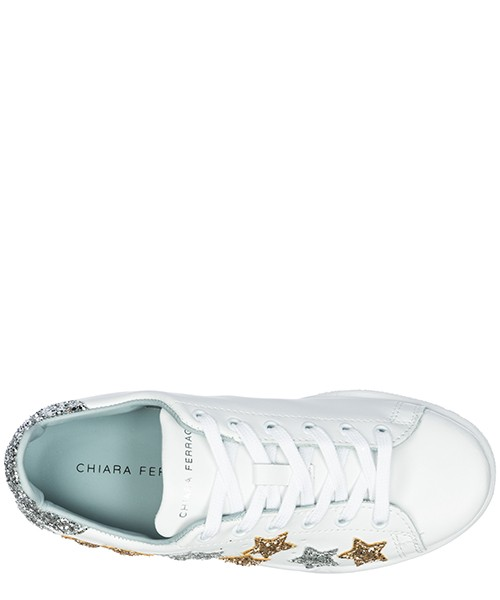 Scarpe sneakers donna in pelle star secondary image