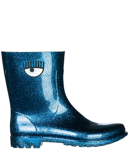 Stivali di gomma Chiara Ferragni Flirting CF2176 blu