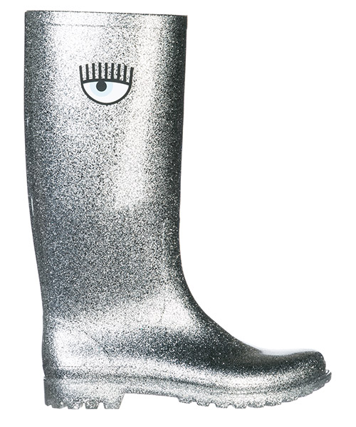 Stivali di gomma Chiara Ferragni Flirting CF2180 argento