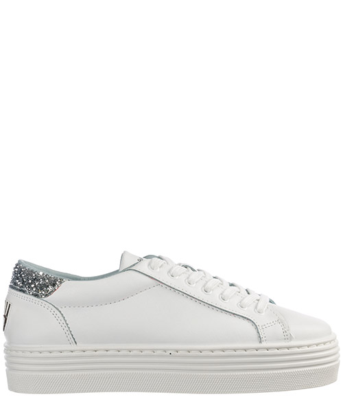 Women's shoes leather trainers sneakers logomania