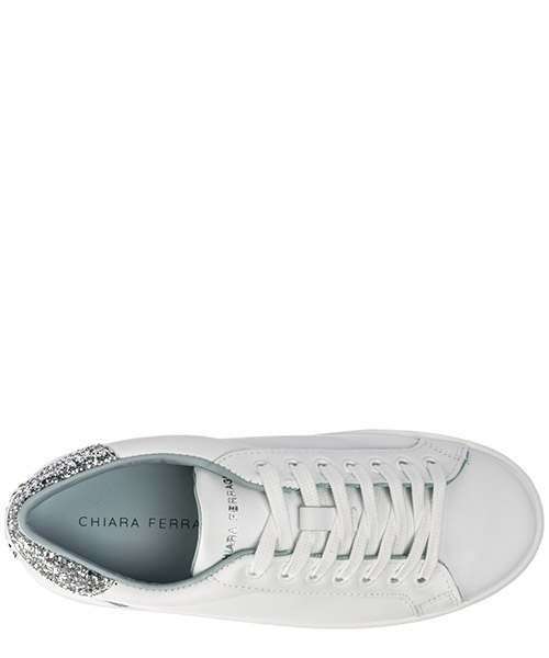Women's shoes leather trainers sneakers logomania secondary image